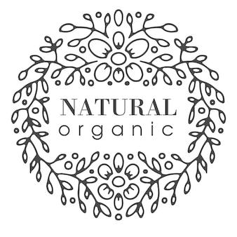 Ecologisch vriendelijk, natuurlijk en biologisch merk. geïsoleerd kleurloos label