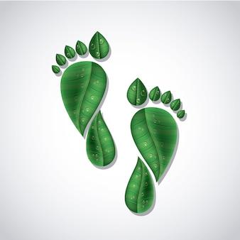 Ecologische bladeren ontwerp
