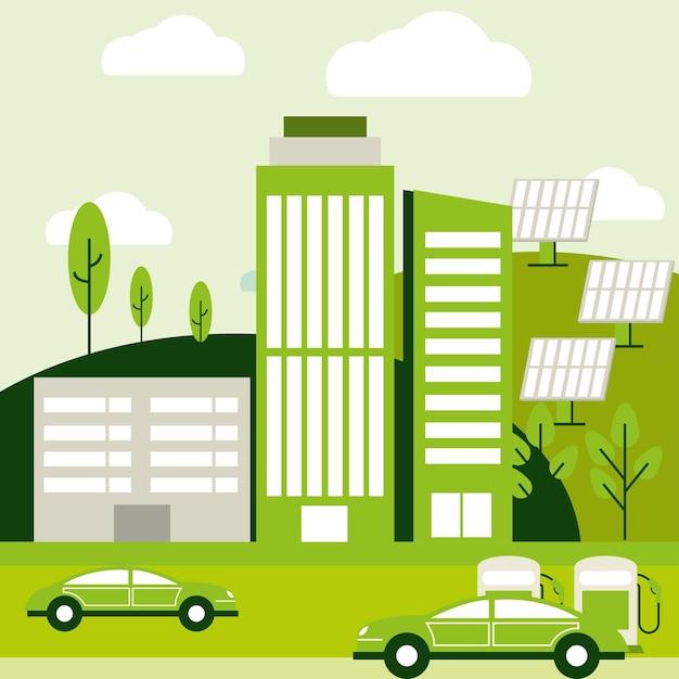 Ecologische en ecologische stad