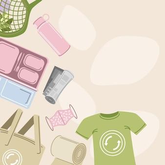 Ecologische herbruikbare accessoires