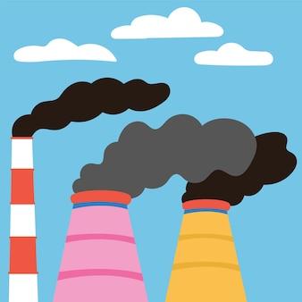 Ecologische rampen luchtverontreinigingemissies fabrieken