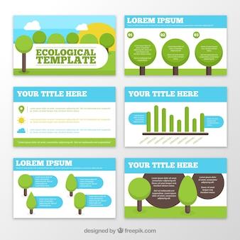Ecologische sjablonen met bomen