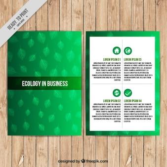 Ecologische zakelijke flyer