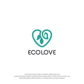 Ecolove logo ontwerp tempel
