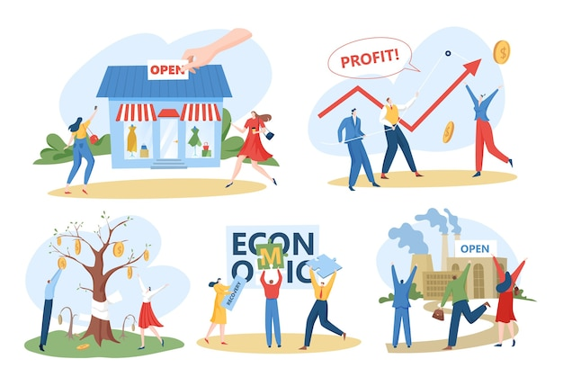 Economisch herstel na crisisconcept