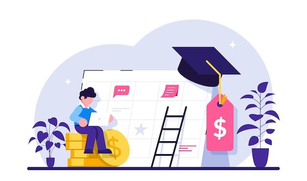 Economisch systeem om geld te krijgen voor hogeschool of universiteit
