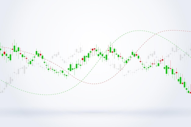 Economische grafiek met diagrammen op de aandelenmarkt