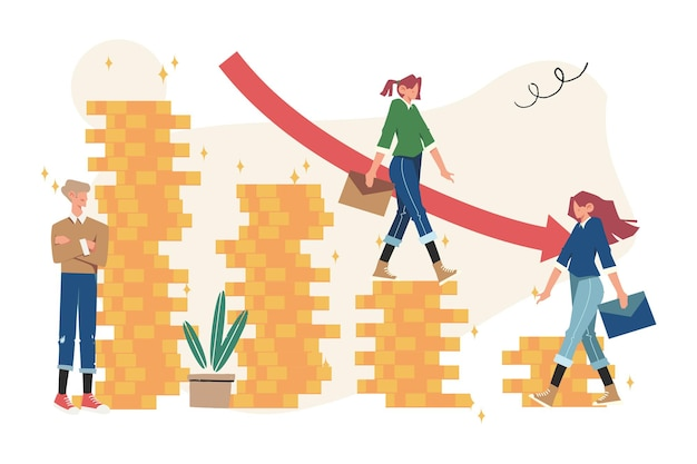 Economische neergang, winst en verlies, zaken en financiën, crisis