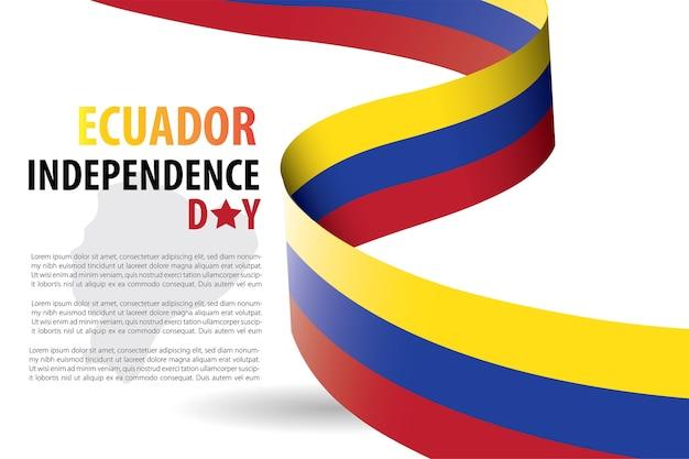 Ecuador independence day achtergrond sjabloon