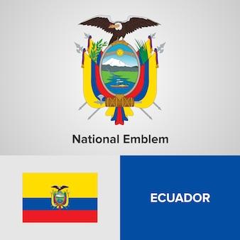 Ecuador nationaal embleem en vlag