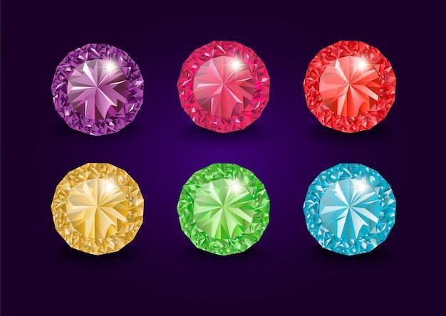Edelstenen en edelstenen, sieraden. strass en briljant, saffier en amethist, aquamarijn en toermalijn, diamant en smaragd, kwarts en robijnjuwelen, agaat. sieraden edelstenen