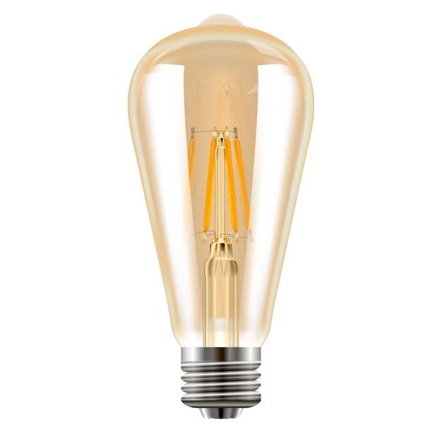Edison bulb. decoratief vintage licht. realistisch