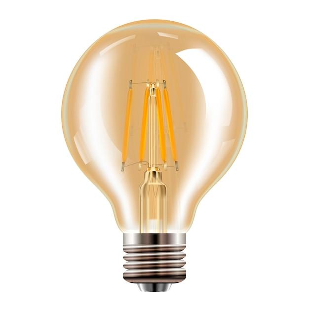 Edison-lamp. transparante vintage lamp. realistisch