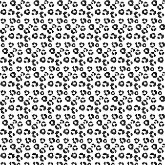 Editable patroon van dierlijke druk