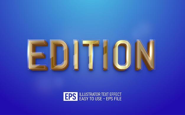 Editie 3d-tekst bewerkbare stijleffectsjabloon