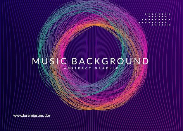 Edm-flyer. dynamische vloeiende vorm en lijn. geometrische show brochure lay-out. neon edm-flyer. electro trance muziek. techno dj-feest. elektronisch geluidsevenement. club dans poster.
