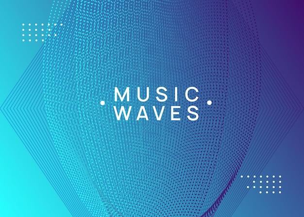 Edm-flyer. dynamische vloeiende vorm en lijn. moderne concertbrochure lay-out. neon edm-flyer. electro trance muziek. techno dj-feest. elektronisch geluidsevenement. clubdansposter.