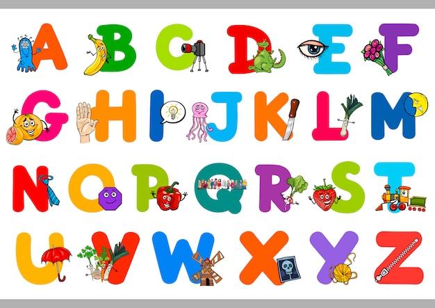 Educatief alfabet voor kinderen