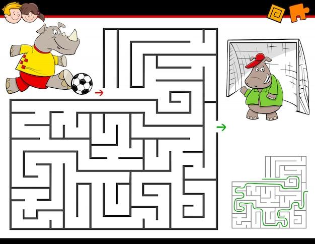 Educatief doolhofspel voor kinderen
