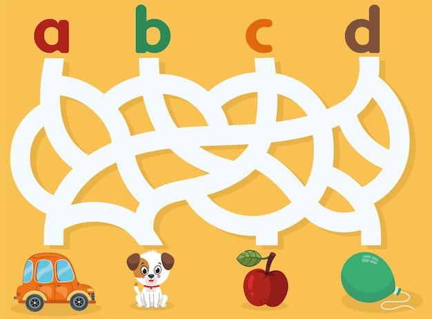 Educatief matching-spel voor kinderen vectorillustratie