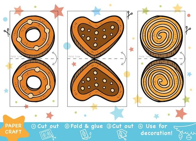 Educatief papier knutselen voor kinderen cookies