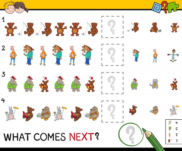 Educatief patroon-activiteitenspel voor kinderen