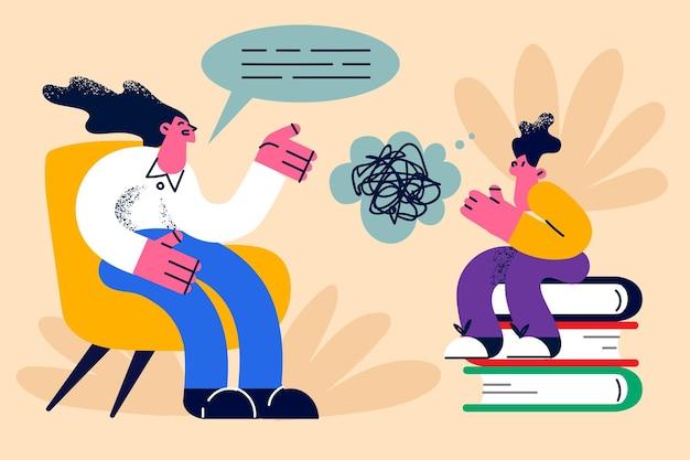 Educatief proces leren kennis concept