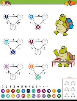 Educatief spel voor berekening van wiskunde voor kinderen