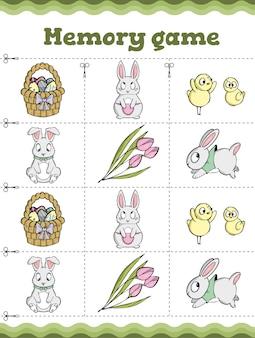 Educatief spel voor kinderen cartoon