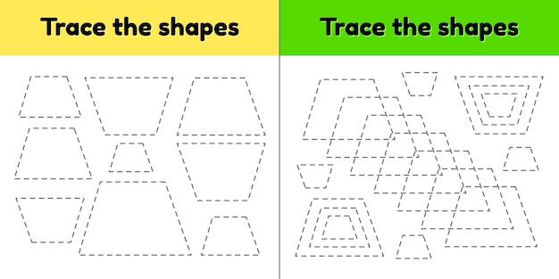 Educatief tracing werkblad voor kinderen