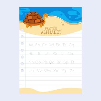 Educatief werkblad voor alfabet-tracering