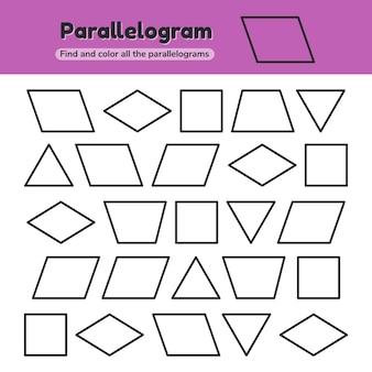 Educatief werkblad voor kinderen kleuterschool