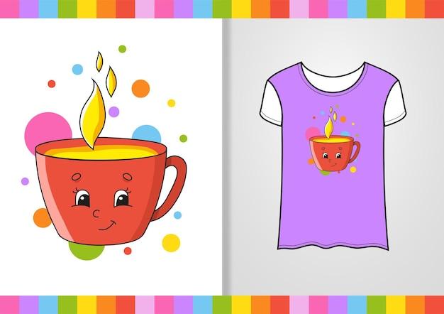 Educatief werkblad voor t-shirtontwerp