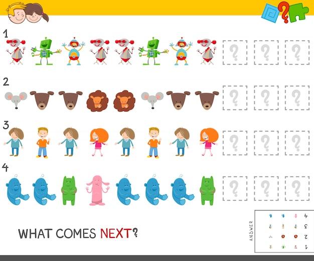 Educatieve patroontaak voor kinderen
