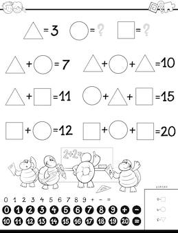 Educatieve wiskundige berekening puzzel voor kinderen