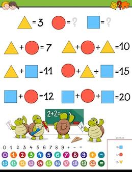 Educatieve wiskundige berekening puzzelspel