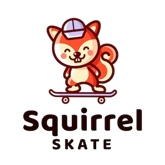 Eekhoorn skate-logo