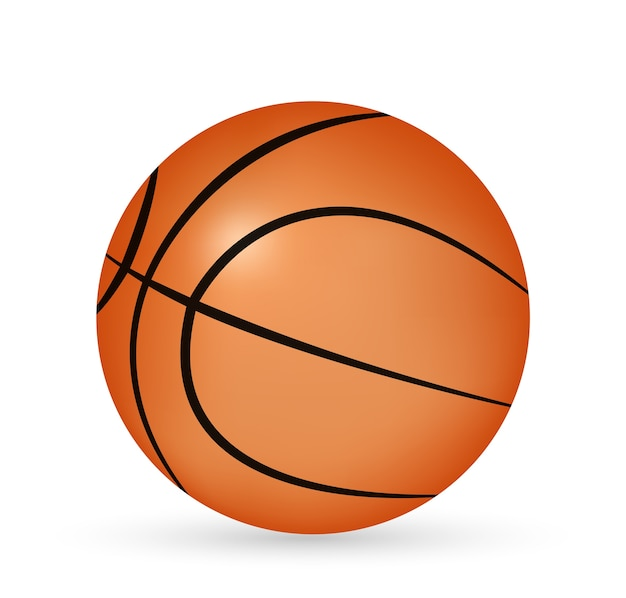 Een 3d basketbalvector