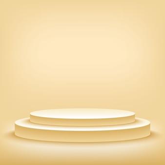 Een 3d illustratie van lege sjabloon