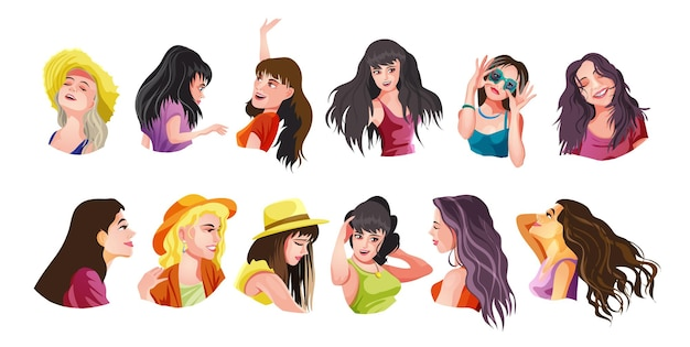 Een aantal leuke meisjes dient verschillende kleren in en doet verschillende activiteiten