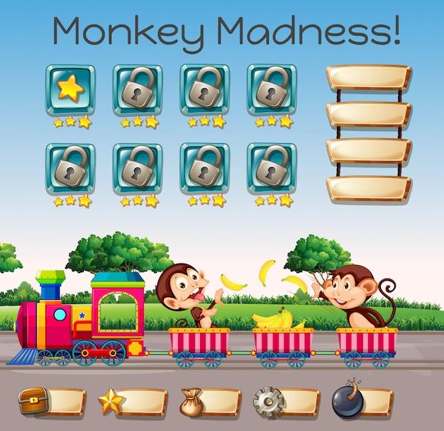 Een aap waanzin spel sjabloon