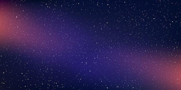 Een achtergrond van hoge kwaliteit melkwegillustratie met sterrenstof en helder glanzende sterren die de ruimte verlichten