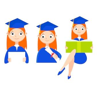 Een afgestudeerde student met een diploma