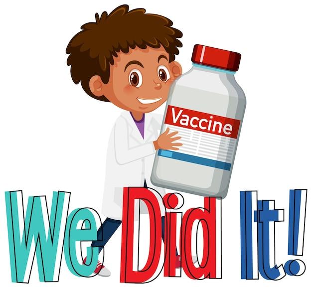 Een arts die een covid-19-vaccinfles vasthoudt