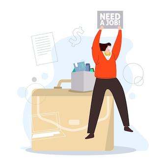 Een baan nodig vanwege de coronaviruscrisis