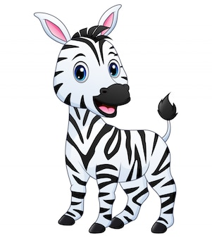 Een baby zebra cartoon