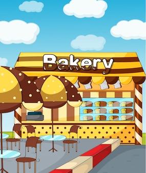 Een bakkerijwinkel