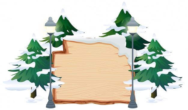 Een banner van het winterthema