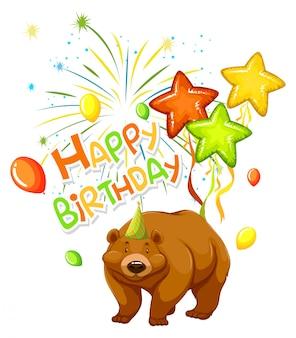 Een beer op feestsjabloon