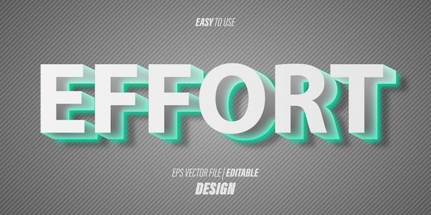 Een bewerkbaar 3d-teksteffect met moderne futuristische lettertypen en zachte grijze verloopkleuren met een elegant thema.
